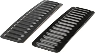 GenRight Off Road LVR-1006 Black 2 Piece Long Hood Louver Vent Set For Jeep Cherokee, Wrangler Fits All Vehicles Universal Fit