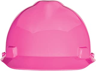 MSA Safety 10155230 V-Gard Slotted Cap, Hot Pink, w/Fas-Trac III Suspension, Standard