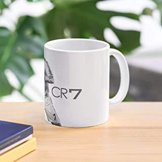 Soccer Cristiano Madrid Ronaldo Game Football Black Cr7 Best 11 Ounce Ceramic Coffee Mug Gift