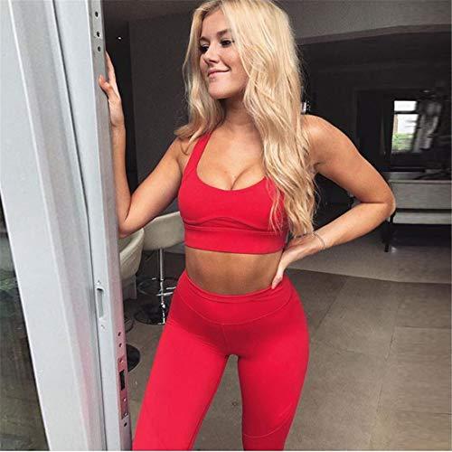 Fliegend Damen Trainingsanzug Yoga Set 2 Teile/Satz Sportanzug Sport BH+ Leggings Gym Fitness Set Frauen Sportwear Laufen Jogging Änzuge Weich Elastisch S