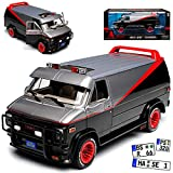 Greenlight GMC Vandura The A-Team Schwarz mit Rot 1968-1996 1/24 Modell Auto