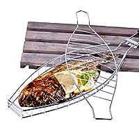 Benkeg 魚のグリルバスケットノンスティックバーベキューバスケット取り外し可能なヘビーデューティーバーベキューツールグリルバスケット魚肉野菜ステーキ
