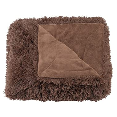 Casual Living Super Plush Shaggy Oversized Throw, 60 by 70-Inch, Brown