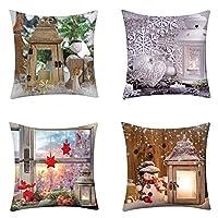 FEDERA di Natale cuscini per divano cuscini per sedie cuscini letto imbottitura per cuscini natalizie cuscini arredo cuscini sedie cuscini per sedie da giardino cuscini da esterno federa per decorazioni natalizie federe cuscini 45x45 federe cuscini d...