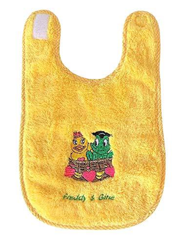 Freds Swim Academy 20322 Bavoir en polyester souple avec motif Fred & Gina Env. 27 x 44 cm, jaune