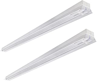 2-Pack, 8FT LED Garage Shop Light, 80W (190W Equivalent), 8000 Lumen, 6000K (Cool White), T8/T12 Fluorescent Light Fixture Replacement for Warehouse, Supermarket, Workshop Office