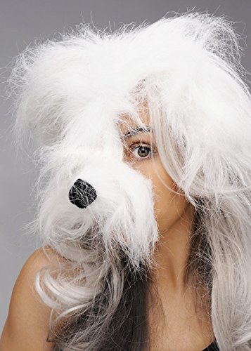 Struts Fancy Dress Masque Blanc Shaggy Dog sur Bandeau