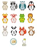 Baby Monthly Milestone Stickers - Set of 14 Photo Sharing Baby Belly One Piece Stickers. Gender Neutral Monthly Stickers for Baby boy or Girl. Create Beautiful Memories with Our Cute Animal Designs.
