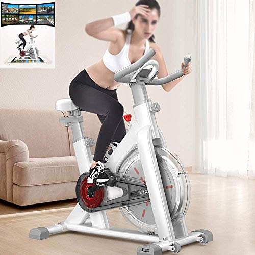 YFFSS Spin Bike, 360 ° Transparent All-inclusive Smart Exercise Bike, Home Fitness Indoor Spinning Bike, Indoor Sports Equipment, Ultra-quiet Fitness