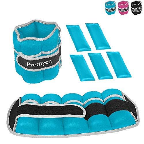 Prodigen Verstellbare Gewichtsmanschetten für Damen und Herren, für Gehen, Joggen, Gymnastik, Blau, 2 Stück