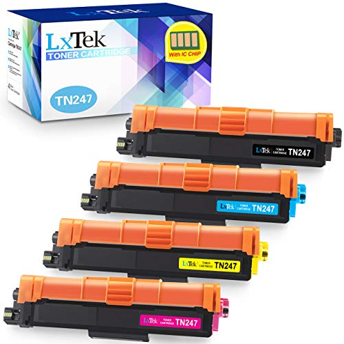 4 LxTek Compatibile Toner per Brother TN-247 TN-243 per Brother DCP-L3550CDW MFC-L3770CDW MFC-L3750CDW HL-L3230CDW HL-L3270CDW HL-L3210CW MFC-L3730CDN DCP-L3510CDW MFC-L3710CW TN247 TN243 - Con Chip