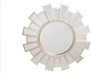 comprar comparacion Espejo Pared Decorativo Redondo, de Color Blanco, Ideal para Dormitorio. Diseño Moderno, con Estilo Geométrico - Hogar y Más
