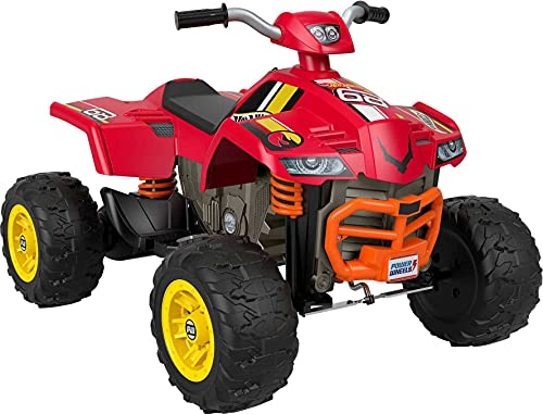 Power Wheels Hot Wheels Racing ATV 12-V Battery Powered Ride-on Vehicle for Preschool Kids Ages 3-7 Years