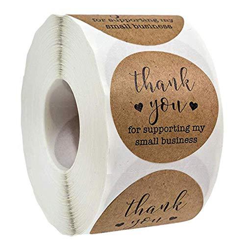 LASISZ 500 etiketten per rol ronde Kraft Dank u voor uw bedrijf Stickers Seal Label Kerstmis Decoratie Stickers briefpapier Sticker