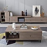 CYQAQ Modernos Muebles nórdicos retráctil TV Gabinete de Almacenamiento armarios gabinete de Piso de Sala de Estar, TV Stand + + Aparador Mesa de café