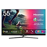Hisense 55U81QF Smart TV ULED Ultra HD 4K 55', Quantum Dot, Dolby Vision HDR, HDR10+, Dolby Atmos, Full Array Local Dimming, Alexa integrata, Tuner DVB-T2/S2 HEVC Main10 [Esclusiva Amazon - 2020]