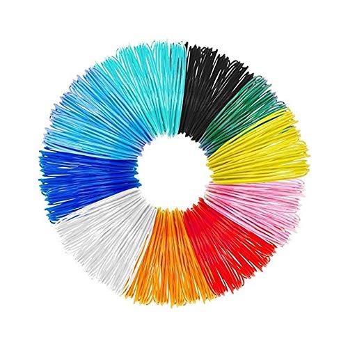 Kacniohen 3D Pen Filamento, 10 Colores, 5 Millones Cada uno, 1,75 mm de impresión en 3D de PLA filamento recargas de la Pluma de Dibujo 3D