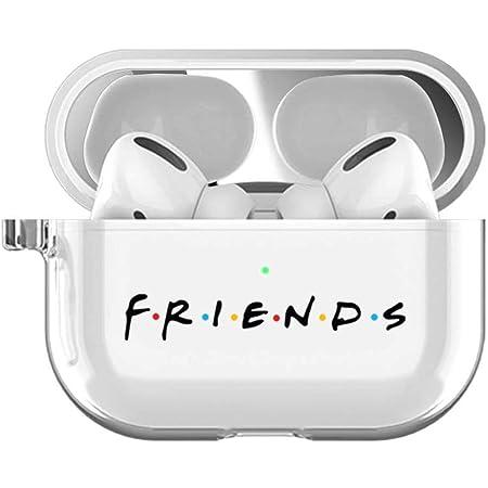 AirPod Pro Case Silicone Airpod Case Cute Friends TV Show AirPods Pro Case TV Series Clear Transparent Airpod Pro Case Friends AirPods Case