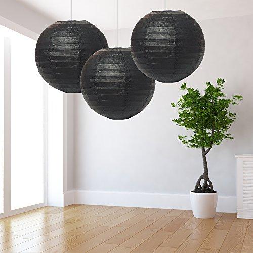 Grote zwarte lantaarns Pack van 3