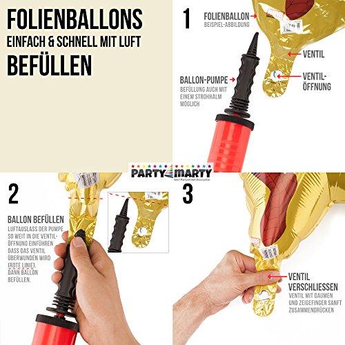 PartyMarty Ballon Zahl 18 in Pink – XXL Riesenzahl 100cm – zum 18. Geburtstag – Party Geschenk Dekoration Folienballon Luftballon Happy Birthday Rosa - 3