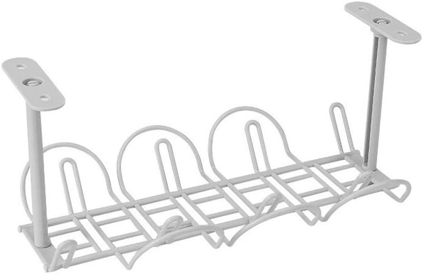sous Bureau Gestion des C/âbles Plateau Ztoma Cordon dalimentation Panier de Rangement Agenda pour C/âble Chargeur Bondes Blanc