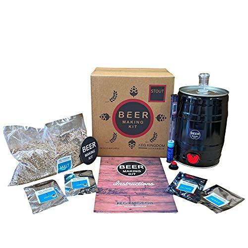 Kit de fabricación de cerveza Stout | Kit de iniciación de elaboración de cereales | Recargas reutilizables disponibles.