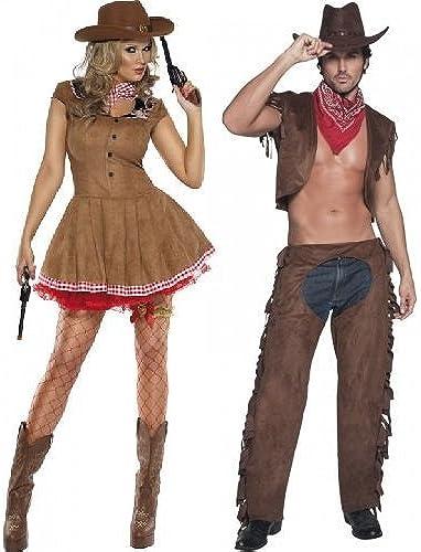 Femmes et Hommes Fever Cow-Boy & Cowgirl Far West Shérif de L'Ouest Couples DéguiseHommest DéguiseHommests Assorcravates Tenues