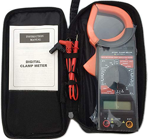 Generic DT266 AC/DC LCD Digital Clamp Multimeter Electronic Testing Meter