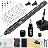 Moricher Hand Stick and Poke Tattoo Kit - Stick n Poke Kit Complete DIY Tattoo Kit Home Tattoo Kit with Ink Tatttoo Needle Accessories for Tattoo Makeup Supplies 16 items