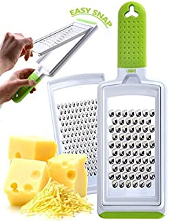 Cheese Grater Handheld Fine & Coarse Stainless Steel – Dishwasher Safe Zester & Cheese Graters for Kitchen