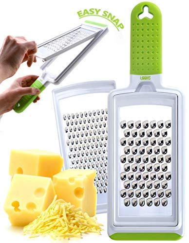 Cheese Grater Handheld Fine amp Coarse Stainless Steel – Dishwasher Safe Zester amp Cheese Graters for Kitchen