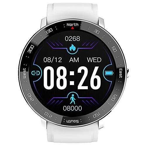 LICHUXIN Smart Sports Watch,Reloj la Moda multifunción la Pantalla táctil IP67,Monitor Ritmo cardíaco,podómetro Deportivo,Reloj de Alarma de exhibición de kilometraje,Conexión de la aplicación,Plata