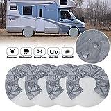 Couvre-pneus pour roue de camping-car (ensemble de 4) caches de roue de camping-car étanches 420D Oxford imperméable, protecteur...