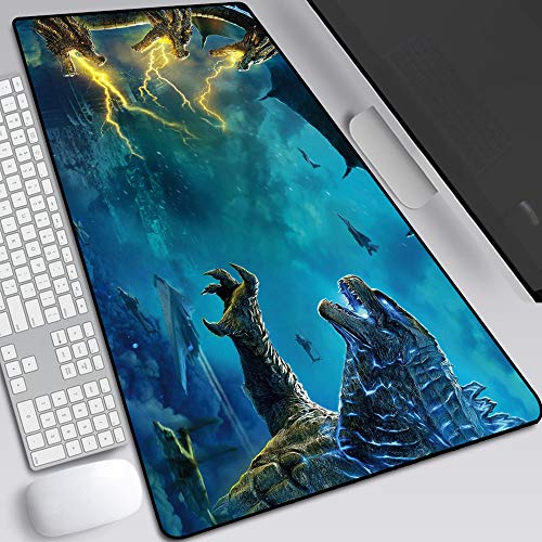 Godzilla Monsters Mouse Pad,Professional Large Gaming Mouse Pad,Extended Size Desk Mat Non-Slip Rubber Mouse Mat (9, 800 × 300× 2 mm / 31.5 × 11.8 × 0.1 inch)