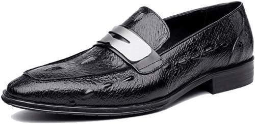 AEYMF zapatos De Cuero De Los hombres zapatos Casuales zapatos De Boda Coreanos