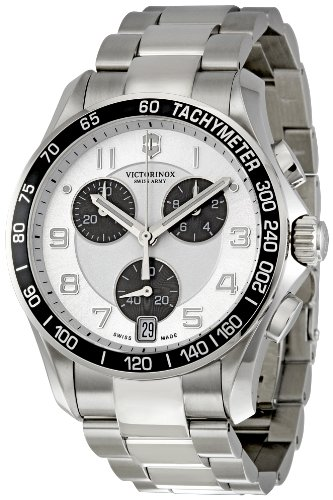 Victorinox Swiss Army Chrono Classic Silver Dial Mens Watch 241495: Watches