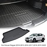 cargo mats for nissan rogue - Vesul Rear Trunk Cargo Cover Boot Liner Tray Carpet Floor Mat Compatible with Nissan Rogue 2014 2015 2016 2017 2018 2019 2020
