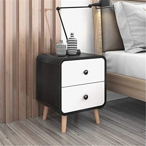 HJKH Bedside Cabinet Modern Bedside Table Bedside Table Storage Cabinet for Living Room Drawer Bedside Cabinet, (Color : Black, Size : 35x45x48cm)