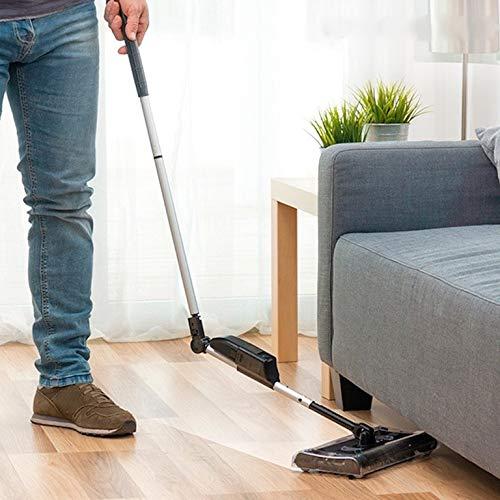 Sweeper Pro accu-bezem, 360 graden draaibaar, zodat elke hoek schoon wordt.