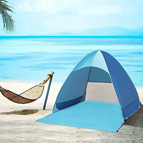 GUJIN Pop up Strandmuschel, Extra Light Automatisches Strandzelt mit UV-Schutz, für 2-3 Personen Familien Tragbar Beach Zelt, für Strand Garten Camping