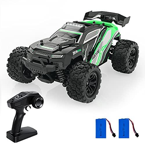 Coche teledirigido todoterreno TEEROK TR20 1:18 RC Car 4WD, Monstertruck teledirigido 38 km/h, 2,4 GHz, juguete eléctrico para niños, juguete de exterior, regalo para niños y adultos