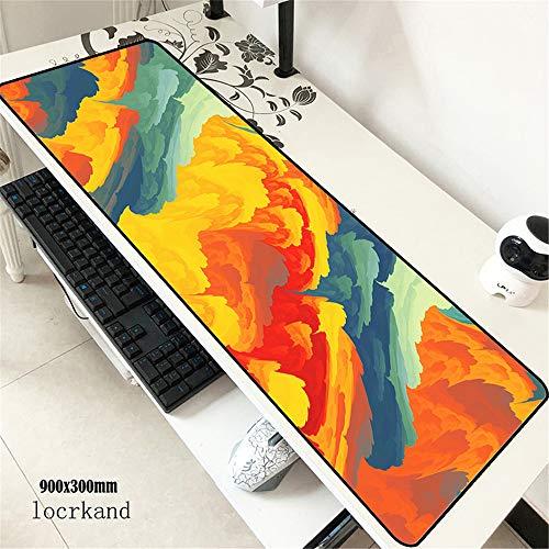 Juego Impermeable Teclado para computadora computadora Tableta Mouse Pad 900 * 400 * 3 mm 5 M400X700X2M