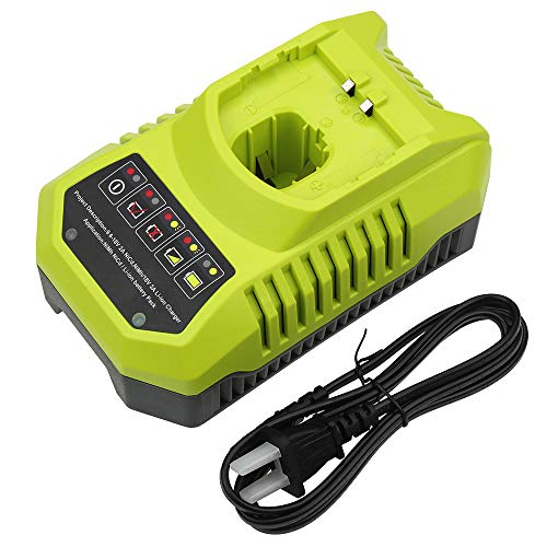 P117 Dual Chemistry Charger Replacement for Ryobi 18V Battery Charger 12V 14.4V 18V Li-ion & Ni-cad Ni-Mh Battery Charger for One+ Plus Battery P100 P102 P103 P105 P107 P108