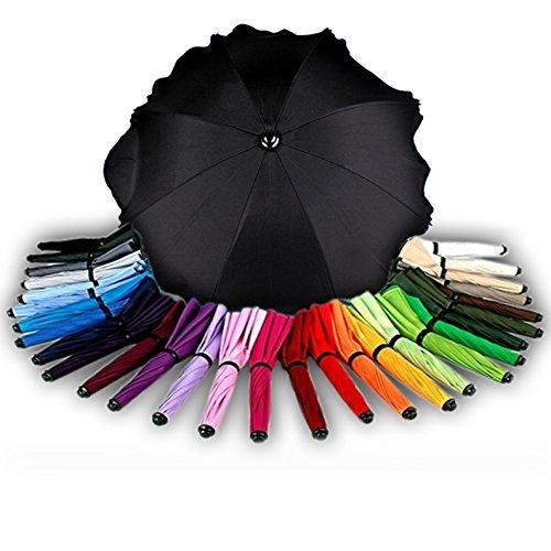 BAMBINIWELT Sonnenschirm für Kinderwagen Ø68cm UV-Schutz50+ Schirm Sonnensegel Sonnenschutz (Schwarz) XX