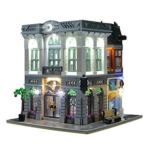 QZPM Conjunto De Luces (Banco De La Serie Creative Street View) Modelo De Construcción De Bloques - Kit De Luz LED Compatible con Lego 10251 (NO Incluido En El Modelo)