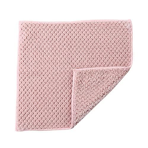 Watkings Toalla de cocina de doble capa absorbente de terciopelo grueso trapos de secado rápido toallas de absorción de agua estupenda limpieza de secado