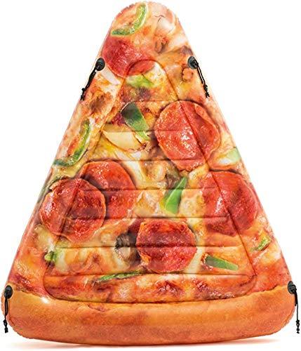 XXCLZ Pizza de la Rebanada Inflable Mat con la impresión Realista para bebé, niños, al Aire Libre, jardín, Patio Trasero, Fiesta del Agua Verano, 69in X 57 en,175 * 145CM