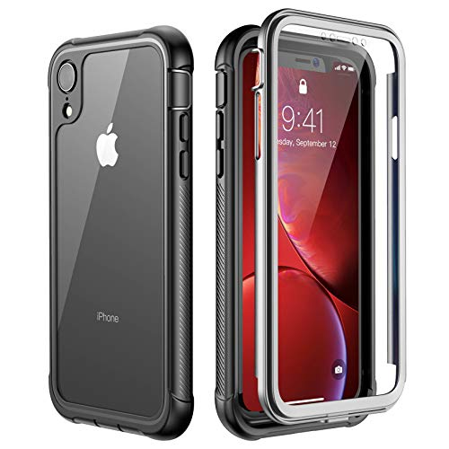 ATOP iPhone Xr case, Full-Body Protection Rugged Clear Bumper Case with...
