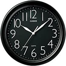Casio Black Round Wall Clock IQ-01-1R