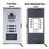 NA - Timbre inteligente para puerta de vídeo de 7 pulgadas con sistema de intercomunicador de teléfono HD 1000TVL